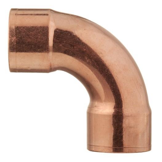 Угол - отвод медный 90˚ 28 мм двухрастр.