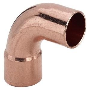 Угол - отвод медный 90˚ 42 мм однорастр.