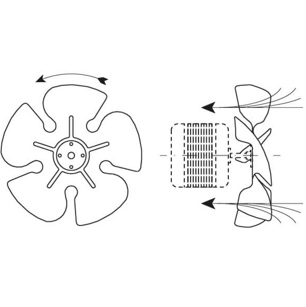 Крыльчатка 200мм/34°пластик (всас., на мотор) ELCO (4VEA010)