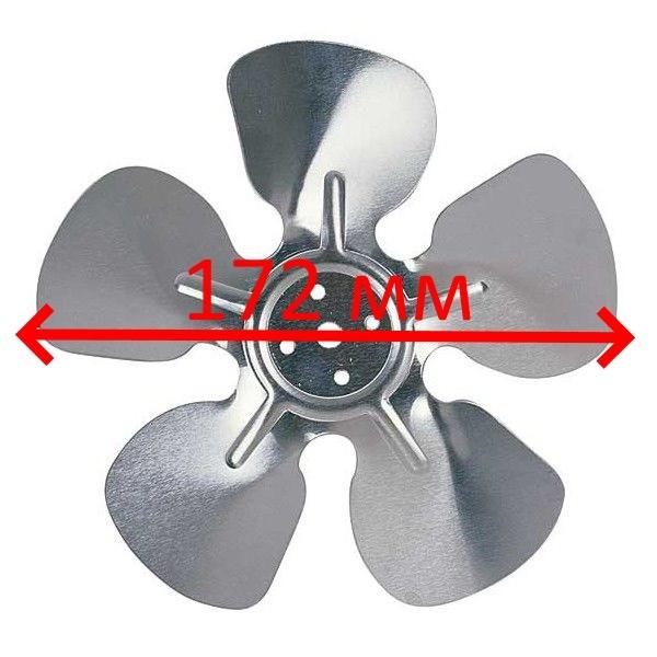 Крыльчатка 172мм/28°металл (нагнет., от мотора) BLOW